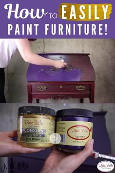 Distressed Furniture Painting, Chalk Paint Furniture, Diy Furniture Projects, Funky Furniture, Repurposed Furniture, Shabby Chic Furniture, Furniture Makeover, Diy Bedroom Decor, Diy Home Decor