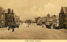 High Street, Moffat Dumfries & Galloway 1910 ( explore your biking wanderlust on www.motorcyclescotland.com ) Biking, Scotland, Wanderlust, Explore, Street, Bicycling, Motorcycles, Cycling, Walkway