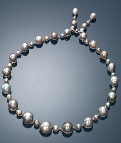 Pearl Necklace with Diamond and Ruby See more amazing jewelry at RadiantRings.net! #jewelry