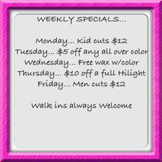 Spa Specials
