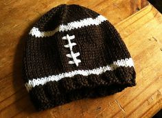 football hat,  6-12 months hand knit The Mad Knitter Shop on Etsy.