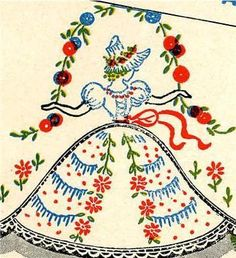 Vogart 109 Novelty Designs to Applique & Embroidery on Cases. 1950s Embroidery design