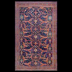 Bijar Rug - 5321 | Persian Formal 11' 0'' x 18' 2'' | Blue, Origin Persia…