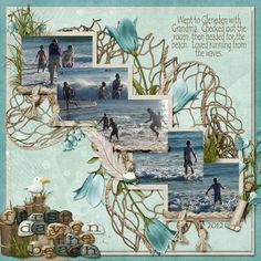 Beach Scrapbook Layouts   ... scrapbook Layout of the Day is First Day on the…: