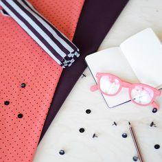 MINIPOLKA, koralli/ luumu| NOSH Fabrics Pre Autumn Collection 2016 is now available at en.nosh.fi | NOSH syksyn ennakkomalliston 2016 kankaat ovat nyt saatavilla nosh.fi