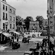 "photo: ""Cars on Grafton Street, Dublin, Ireland Via National Library of Ireland"