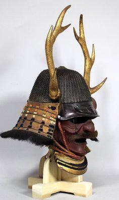 Japanese Warrior, Japanese Sword, Japanese Art, Samurai Helmet, Samurai Armor, Police Hat, Miyamoto Musashi, Fantasy Concept Art, Leather Armor