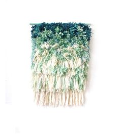 Furry mint dreams // Handwoven - Tapestry - Wall hanging - Weaving - Fiber Art -Textile Wall Art - Woven - Home Decor - Jujujust on Etsy, $240.00