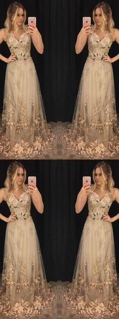 Sexy Tulle Prom Dress, Long Evening Dress, Sleeveless