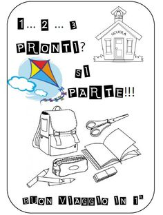 1...2...3... pronti...si parte - 7 Back To School, Teaching, Kids, L2, Mamma, Gallery, Classroom Ideas, Alphabet, Party