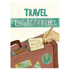 The Travel Listography  features colourful illustrations and over 70 thought-provoking list topics for travellers to list all of their past trips and future destinations.