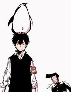 Hibari & Penguin (& Kusakabe)