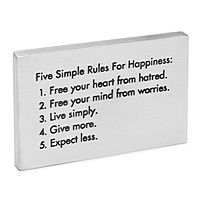 Gain inspiration from this paperweight with five simple rules- free your heart from hatred, free your mind from worry, live simply, give more, expect less. Great Quotes, Quotes To Live By, Me Quotes, Inspirational Quotes, Motivational, Qoutes, Great Words, Wise Words, Simple Rules
