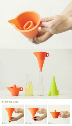 THE MULTIFUNCTIONAL FLEXI FUNNEL | Read Full Story at Yanko Design