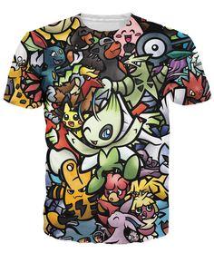 2f089f3c3dd5 Pokemon Team U T-Shirt print Pokemon Cartoon Women Men t shirt Summer Style  tees