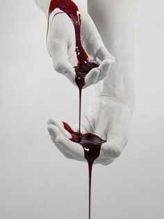 I enjoy this contrast between the dark red blood and the clean white of the hands, as this displays corruption. A Darker Shade Of Magic, The Wicked The Divine, The Secret History, Red Queen, Dark Queen, Red Aesthetic, Queen Aesthetic, Dark Art, Aesthetics