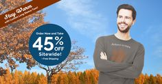 Cooler temperatures mean longer sleeves! Stock up for #fall with 45% off sitewide, plus free shipping. Custom hoodies, long sleeve tees, and performance wear available. #Sale ends 10/5, get started here: http://www.alliedshirts.com/?utm_source=facebook&utm_campaign=SOCLONGSLEEVE45OFF&pcode=4D697A4E6C68325936582F714F566261574D42432F55632B3456475079574C6D