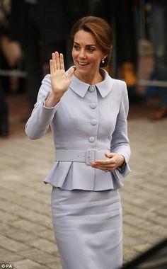 Catherine, Duchess of Cambridge leaves Bouwkeet, the social Makerspace of Bospolder-Tussendijken on October 11, 2016 in Rotterdam, Netherlands.