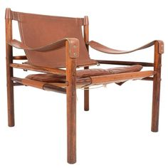 Arne Norell Safari Chair in Rosewood and Leather 1