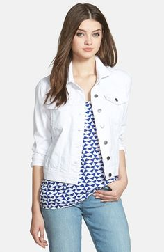 Need a white jean jacket--KUT from the Kloth 'Helena' Denim Jacket (Regular & Petite) available at #Nordstrom