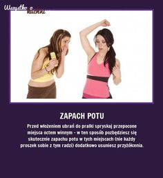 Jak się pozbyć zapachu potu z ubrań? Podpowiadamy!!! Simple Life Hacks, Useful Life Hacks, Guter Rat, 1000 Life Hacks, Life Guide, Good Advice, Face And Body, Clean House, Good To Know