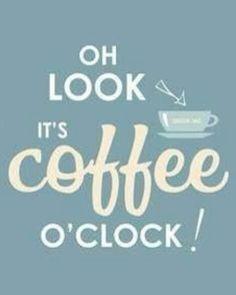 Coffee o'clock ☕⌚
