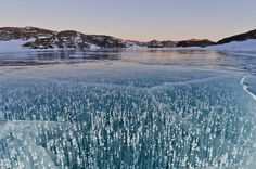 Lake Druzhby In Antarctica