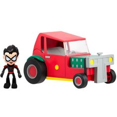 """Way back in February at Toy Fair 2014 Jazwares showed off some new Teen Titans GO! figures, but there was no photography allowed.  They allowed me to shoot the 2 new carded 5"""" figures of Raven and Beast Boy (that go with the wave 1 Robin and Cyborg) but not shoot the 3"""" articulated line."""