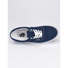 Womens Vans Era Trainers - Navy Blue ( 63) ❤ liked on Polyvore 951a4615a