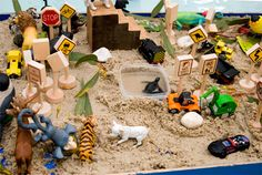 Sand Tray Play. All the fun without tracking sand throughout the whole house. Pinned by The Sensory Spectrum.