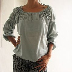 boho look with smock elastic neckline, in lightweight cottons. cocoricooo is one of my fav etsy designers.
