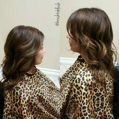 Brown tones #fallready #haircolor #schwarzkopfcolor: level 5 base, highlights level 7