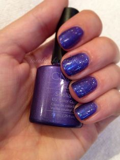 CND Shellac Purple Purple layered with Zillionaire