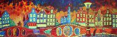 Nu in de #Catawiki veilingen: Daniel Polyakov - Amsterdamse nacht