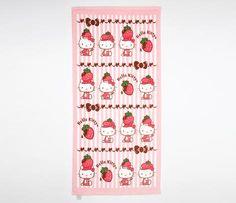 Hello Kitty Bath Towel: Chocolate Strawberry $21.95