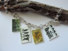 The Beatles Novelty Charm Bracelet Rock Band by SANDJHOTSHOTS