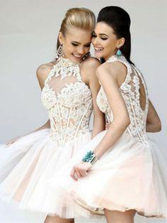 Sweet 16 Dresses short white