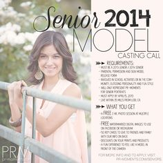 senior model rep program | Senior Model Program | Casting Call | 2014 SENIORS » pr-moments.com