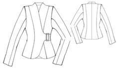 Jacket with side buckle closure