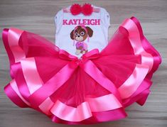 Paw Patrol Birthday Girl tutu outfit, skye birthday tutu set, skye birthday outfit, Personalized Birthday Skye Paw Patrol Shirt and Tutu Paw Patrol Birthday Girl, Baby Girl 1st Birthday, 1st Birthday Outfits, Birthday Tutu, Girl Tutu, Baby Tutu, Paw Patrol Shirt, Different Shades Of Pink, Tutu Outfits