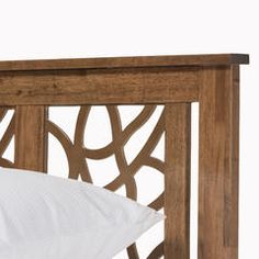 Trina Contemporary Tree Branch Inspired Walnut Wood King Size Platform Bed - Sears