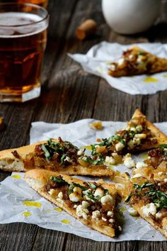 cool Sausage Pizza with Caramelized Onions and Goat Cheese | My Baking Addiction