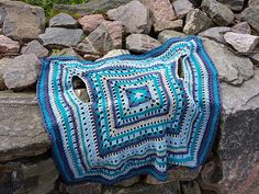 Ravelry: Project Gallery for Jennifer pattern by DROPS design Granny Square Häkelanleitung, Granny Square Crochet Pattern, Crochet Motif, Crochet Shawl, Crochet Stitches, Free Crochet, Large Granny, Crochet Coat, Crochet Jacket