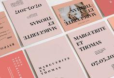 Collection papeterie tendance Mariage 2018. Faire-part contemporain et moderne style editorial de magazine. www.papierandco.com