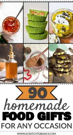 90 Homemade Food Gift Ideas You'll Want To Keep For Yourself - This is an incredible list of food gift ideas homemade from your kitchen. Make thoughtful gifts to give for any occasion…party favors, hostess gifts, or Christmas gifts. Homemade Food Gifts, Edible Gifts, Diy Food, Jam Recipes, Whole Food Recipes, Frugal Recipes, Frugal Meals, Christmas Food Gifts, Homemade Christmas