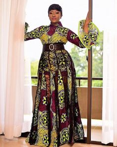 The complete pictures of latest ankara long gown styles of 2018 you've been searching for. These long ankara gown styles of 2018 are beautiful Ankara Long Gown Styles, Latest African Fashion Dresses, African Print Dresses, African Dresses For Women, African Wear, African Attire, Ankara Styles, Ankara Designs, Ankara Gowns