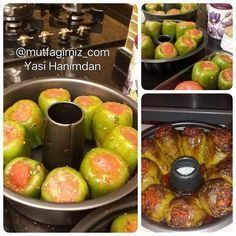 Did you hear the stuffing of peppers in the cake mold? The baked stuffed peppers are extremely delicious, please don't forget to support us. Baked Stuffed Peppers, Baked Peppers, Healthy Breakfast Casserole, Vegetarian Recipes, Cooking Recipes, Tummy Yummy, Iftar, Turkish Recipes, Perfect Food