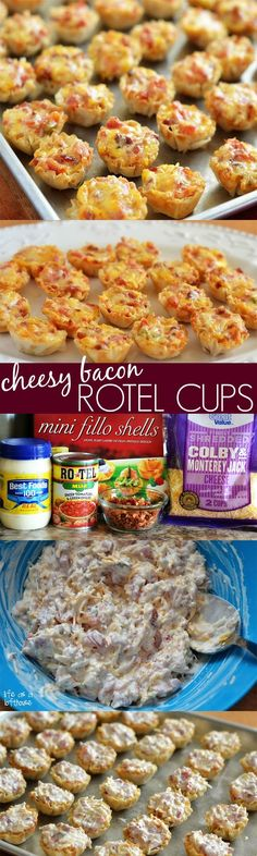 These Cheesy Bacon Rotel Cups are amazing! Not to mention addictive. They're a combination of cheese, bacon and Rotel (canned chopped tomatoes and green chilies) stuffed inside a tiny pastry cup then baked into perfection. Yum-O! I made these for a family party we had last week and they went fast! They're so delicious... Read More »