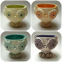 Beautiful Things, Planter Pots, Owl, Pottery, Studio, Tableware, Design, Hall Pottery, Study