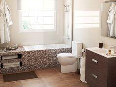#Baños cálidos y funcionales #lavabo #bañera